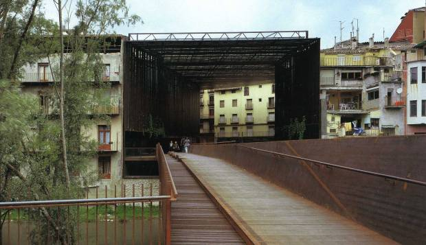 The Public Space of La Lira Theater of Ripoll (Girona).