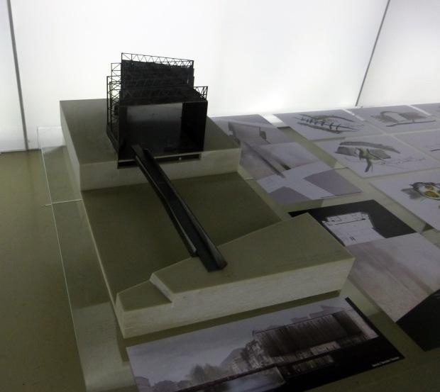 Model of the Public Space of La Lira Theater of Ripoll (Girona).©Fernando de la Cruz.