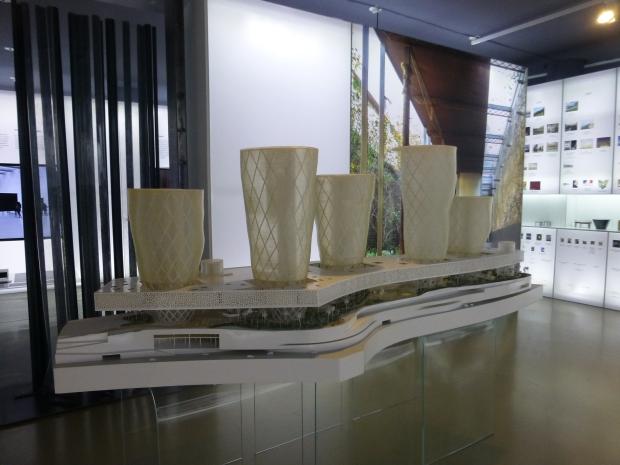 Model of The Edge Dubay Business Bay, one of the RCR last porjects.©Fernando de la Cruz.