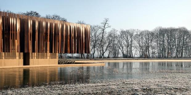 The Hofheide Crematory in Belgium.@Hisao-Suzuki